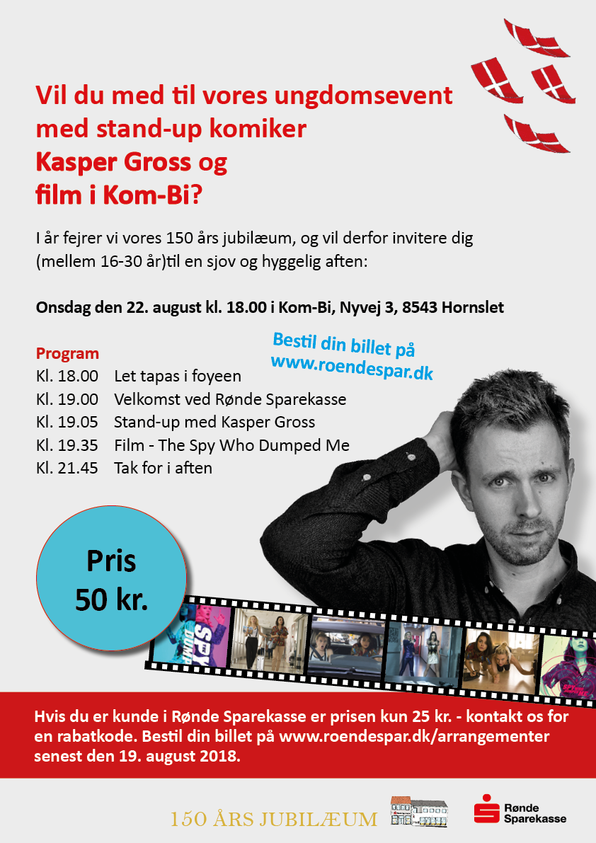 Ungdoms event med Kasper Gross 22. aug 2018